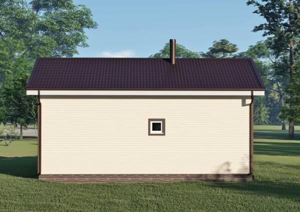 Фасад с маленьким окном дачного дома 8х10 проект Курниково.