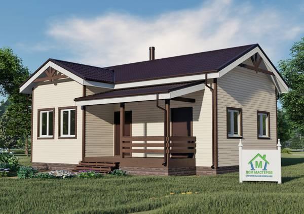 Одноэтажный дом 8х10 проект Курниково