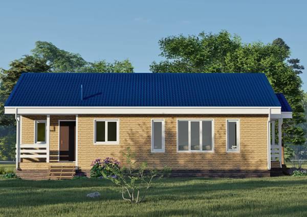 Визуализация дома по проекту Леоново ращмером 8,3х12,8