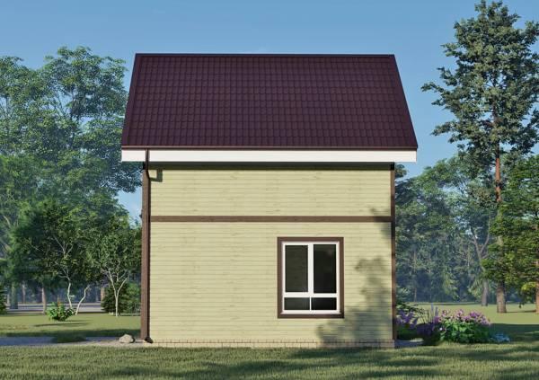 Фасад дачного дома 6х9,1 проект Оксино.