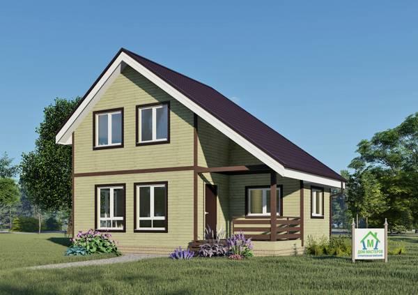 Двухэтажный дачный дом 6х9,1 проект Оксино.