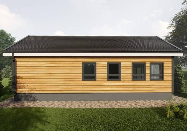 Четыре окна на фасаде дачного дома 9х11 проект сандарово.