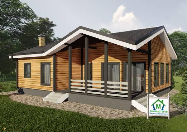 Одноэтажный дом 9х11 проект сандарово общий вид.