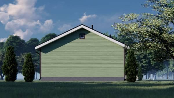 Фасад дачного дома без окон размеры дома 9х10