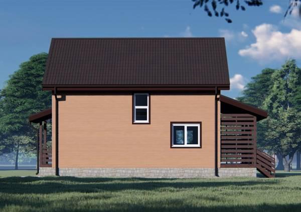 Фасад дома 7х11 проект Липино