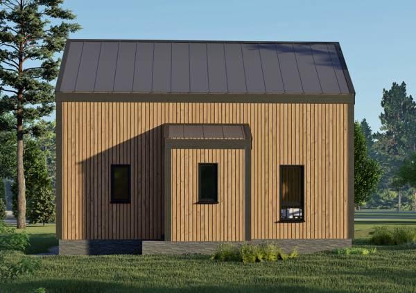 Крыльцо дома в стиле барнхаус проект Лотосов 7,4х9