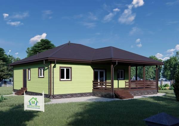 Визуализация проекта Ассаурово одноэтажный дом 11х13 м.