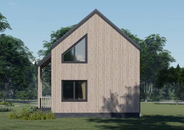 Фасад дома в стиле Барнхаус проект Протасово