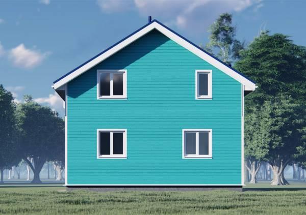 Фасад дома 8х8