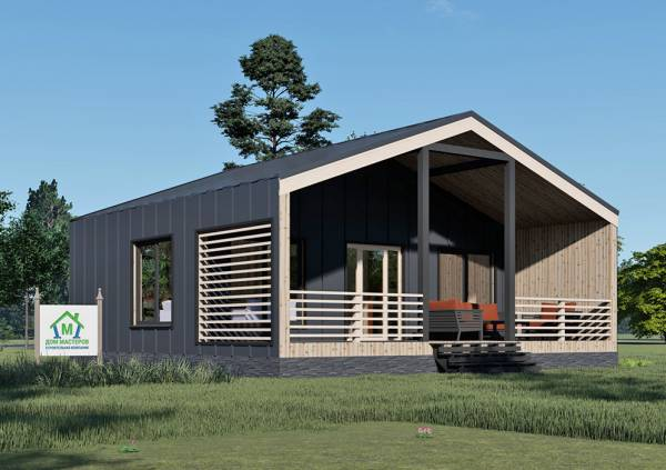 Каркасный Дом в стиле Барнхаус 6х9 проект Ближнево