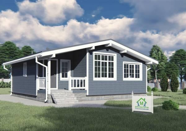 Одноэтажный дом 8,6х9,2 общий вид на дом