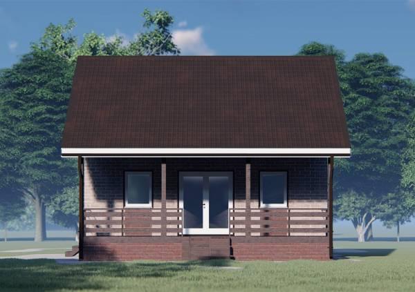 Вид на террасу дачного дома 6.5х8
